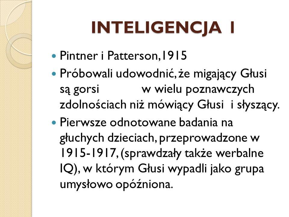 INTELIGENCJA 1 Pintner i Patterson,1915