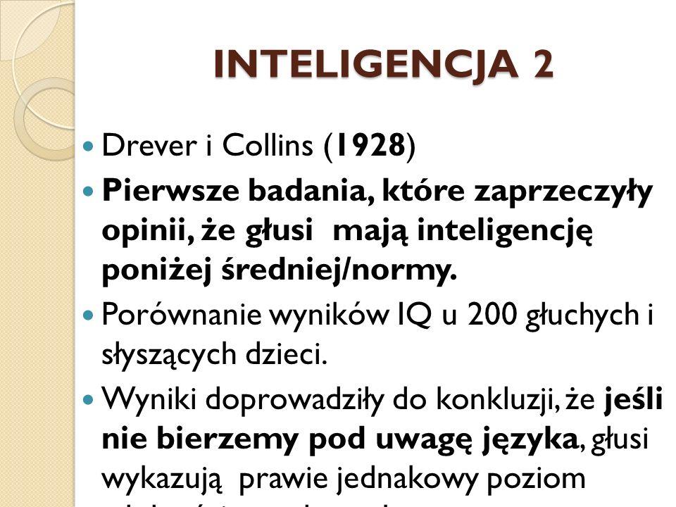 INTELIGENCJA 2 Drever i Collins (1928)