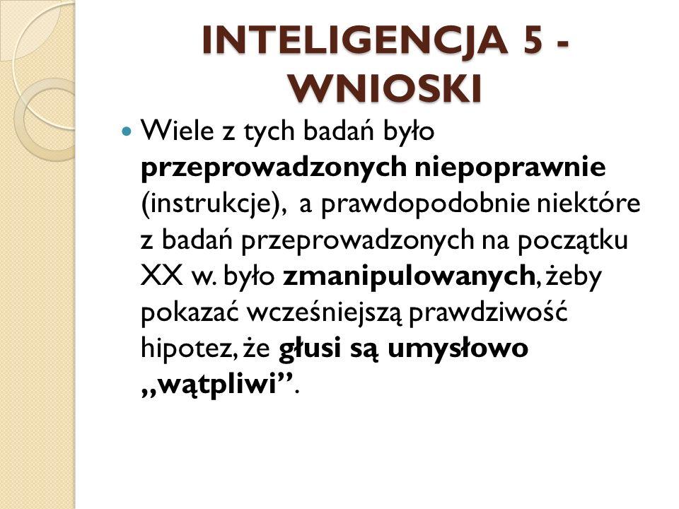 INTELIGENCJA 5 - WNIOSKI