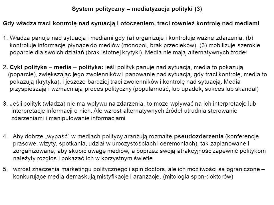System polityczny – mediatyzacja polityki (3)