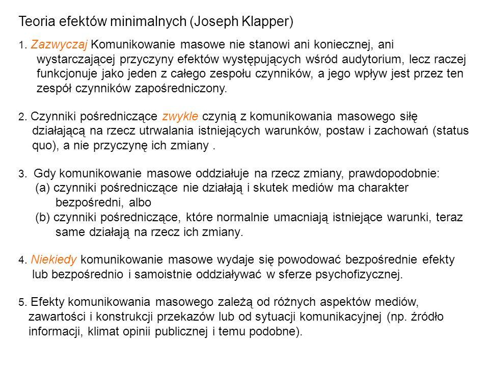 Teoria efektów minimalnych (Joseph Klapper)