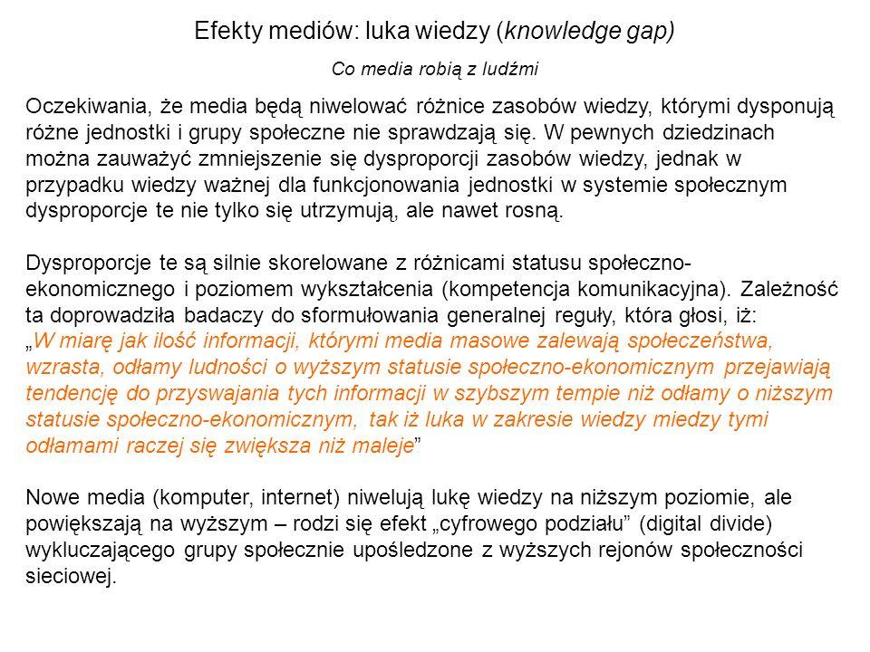Efekty mediów: luka wiedzy (knowledge gap)