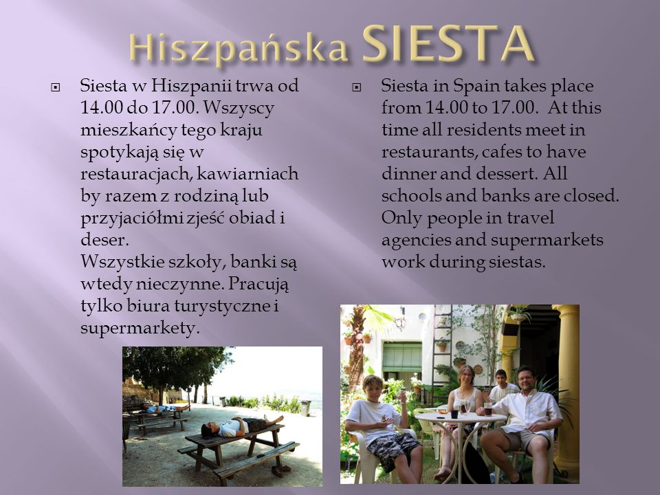 Hiszpańska SIESTA