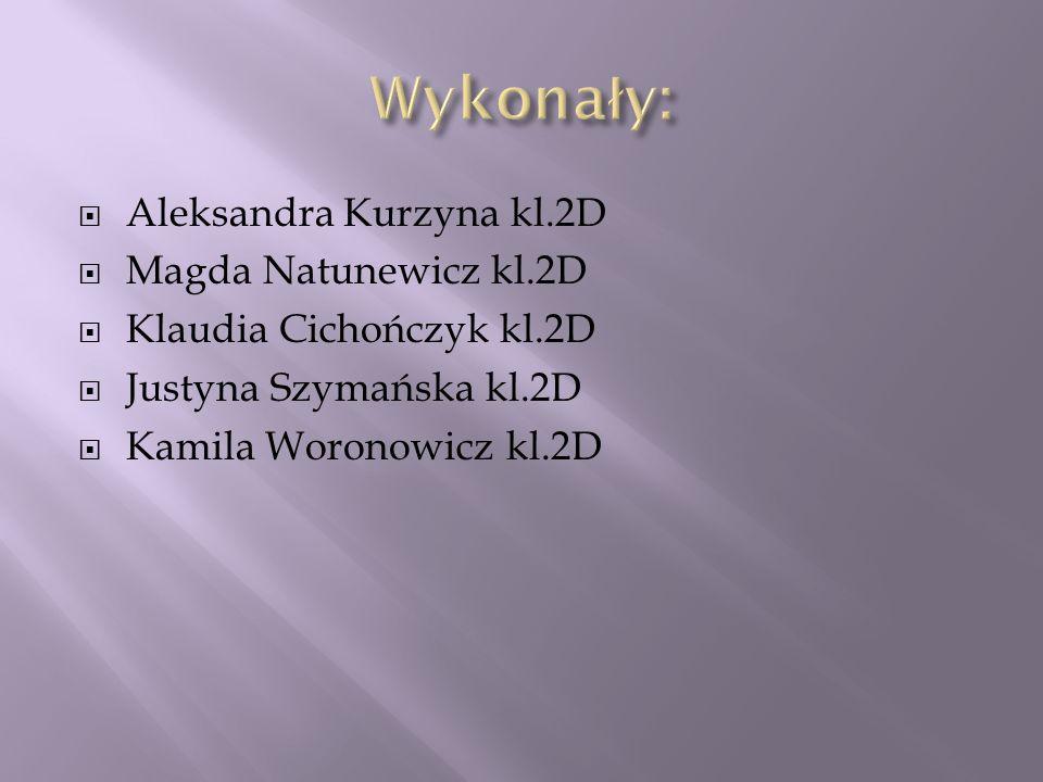 Wykonały: Aleksandra Kurzyna kl.2D Magda Natunewicz kl.2D