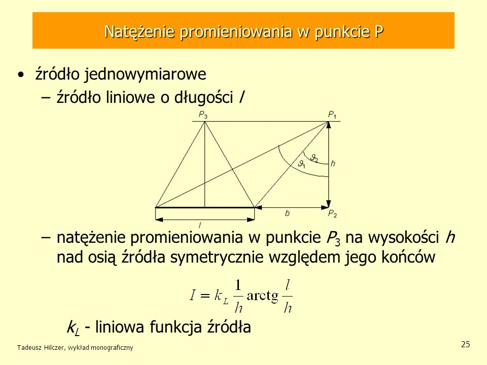 Natężenie promieniowania w punkcie P