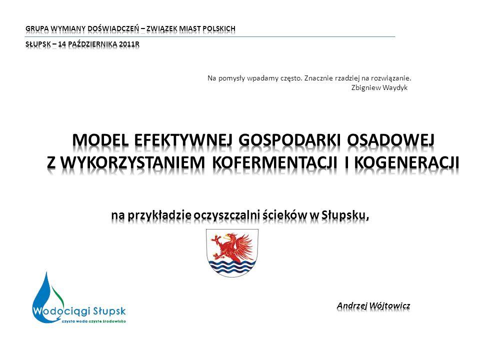 na przykładzie oczyszczalni ścieków w Słupsku,