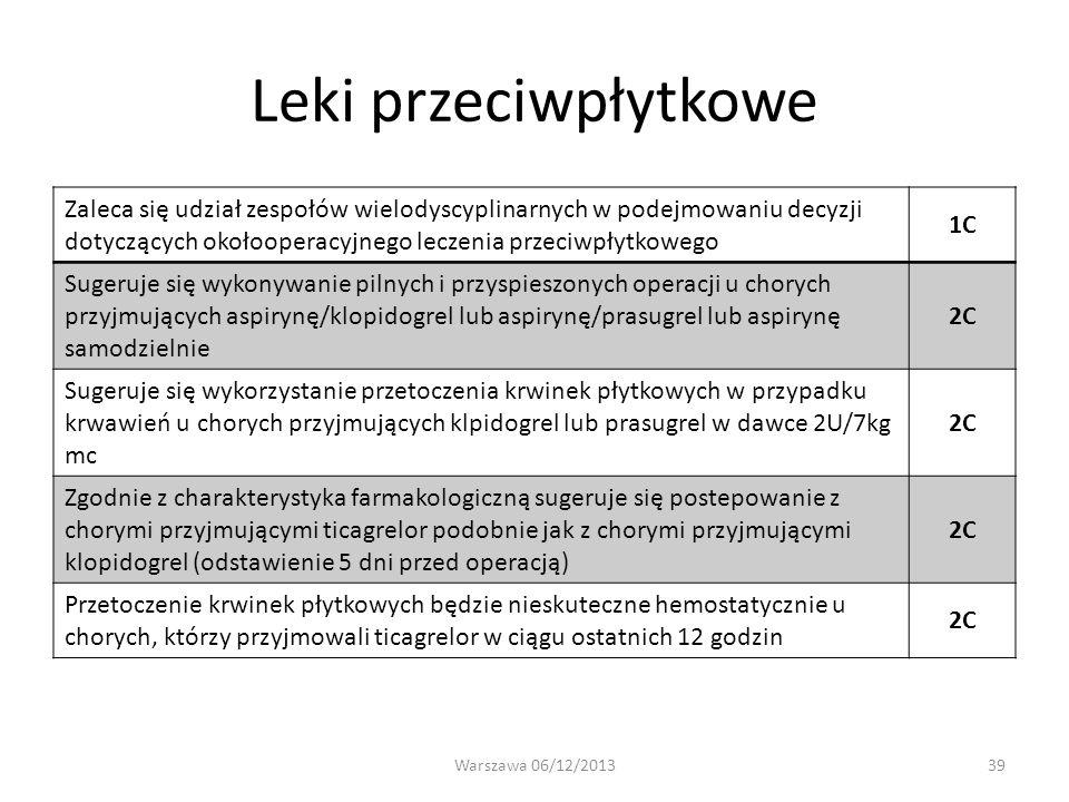 Leki przeciwpłytkowe 1C