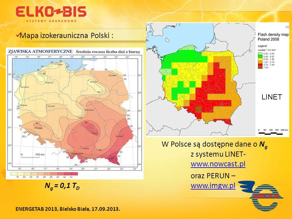 Mapa izokerauniczna Polski :