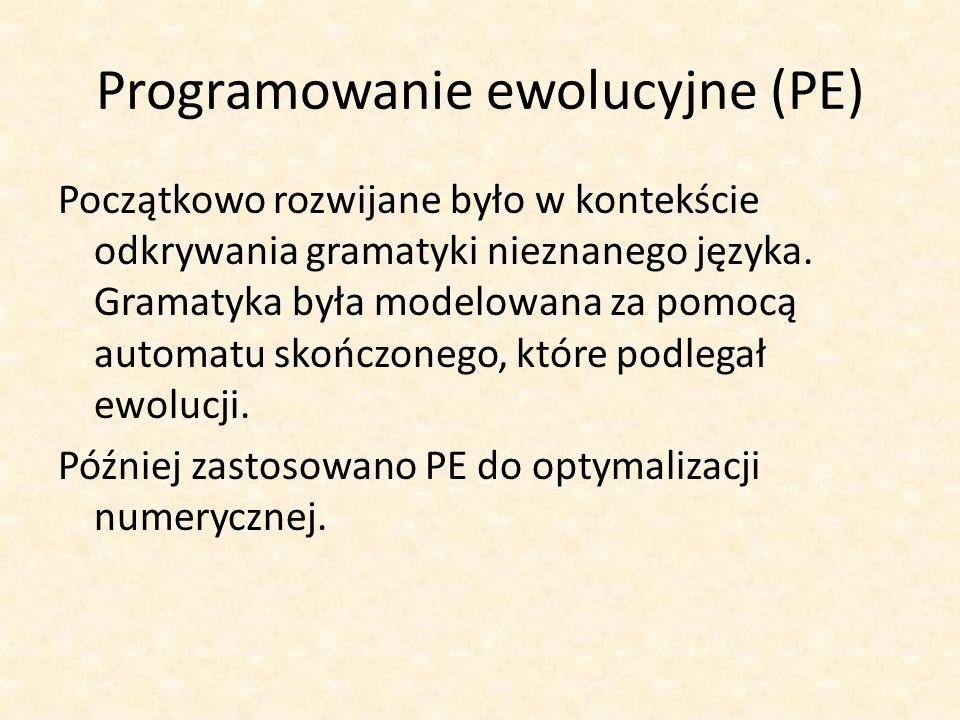 Programowanie ewolucyjne (PE)