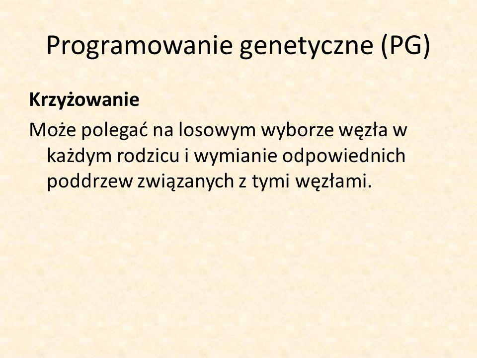 Programowanie genetyczne (PG)