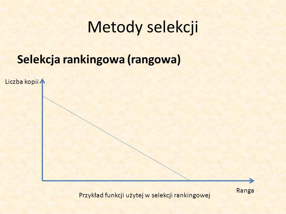 Metody selekcji Selekcja rankingowa (rangowa) Liczba kopii Ranga