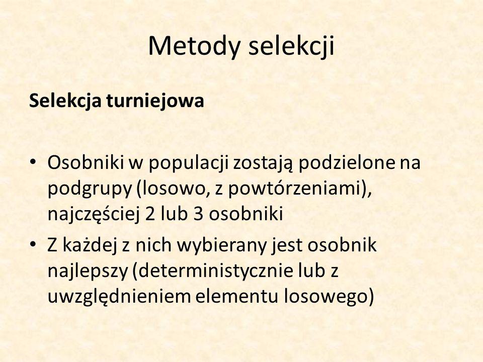 Metody selekcji Selekcja turniejowa