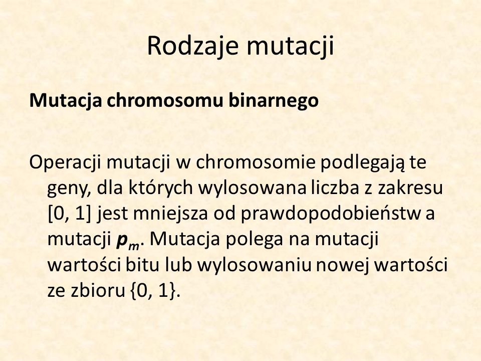 Rodzaje mutacji