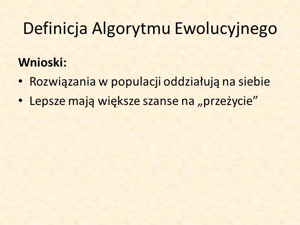 Definicja Algorytmu Ewolucyjnego