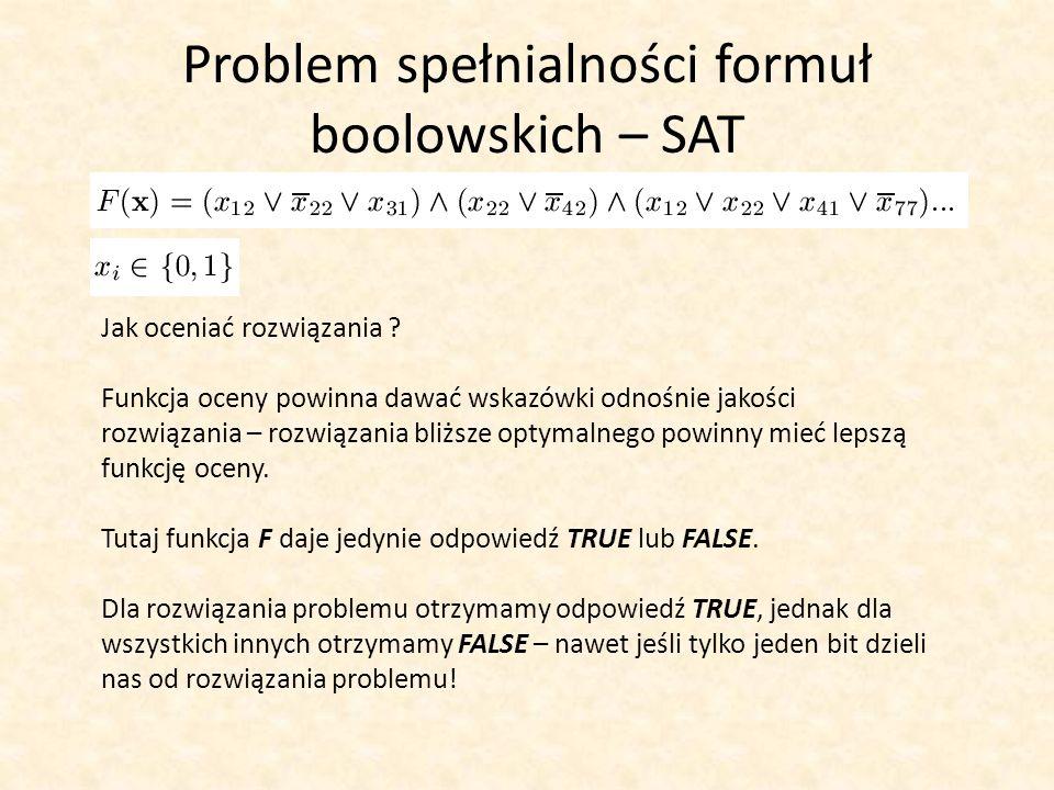 Problem spełnialności formuł boolowskich – SAT