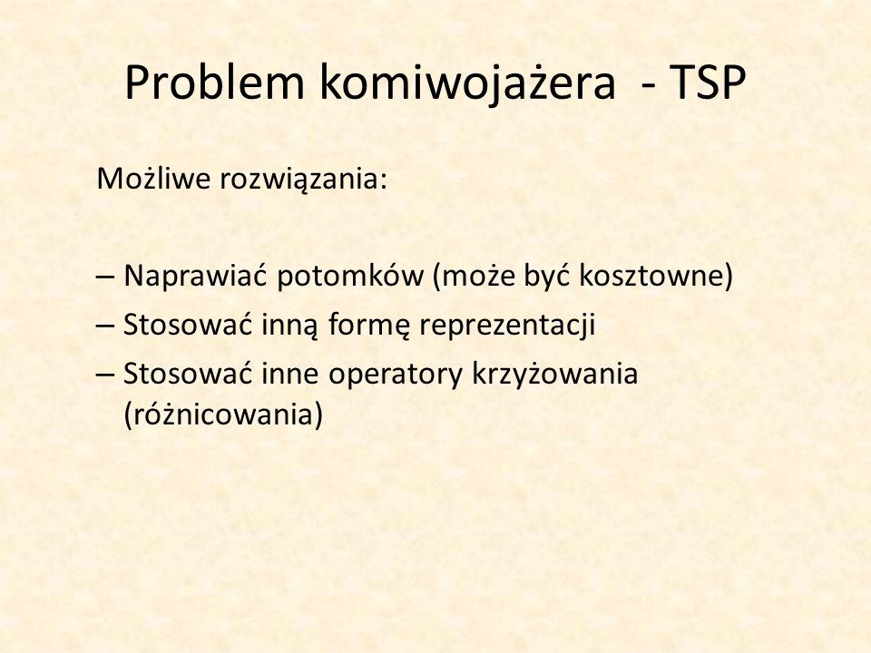 Problem komiwojażera - TSP
