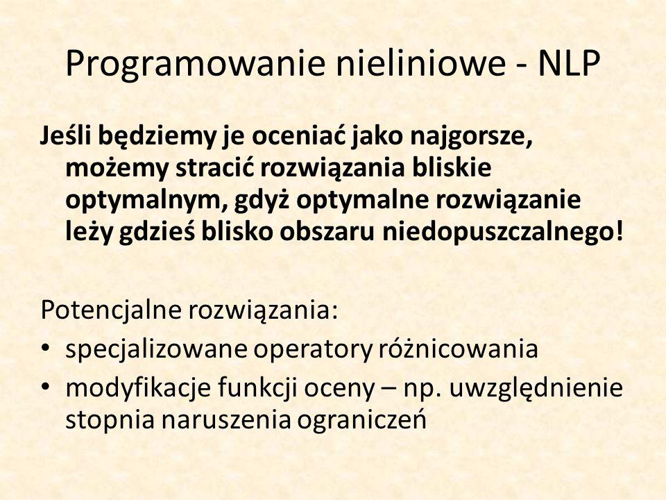 Programowanie nieliniowe - NLP