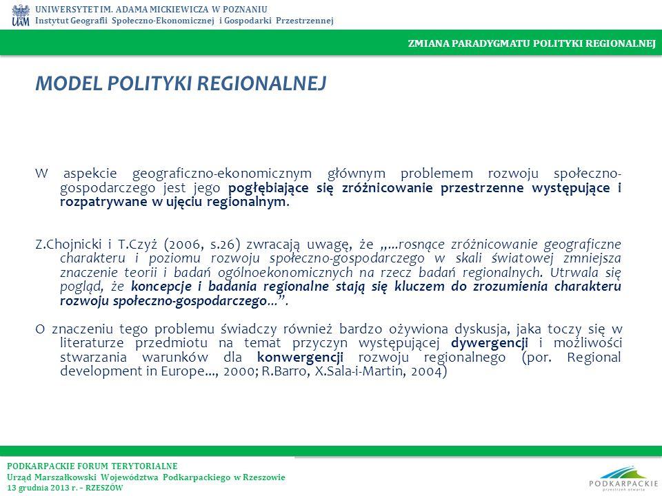 MODEL POLITYKI REGIONALNEJ