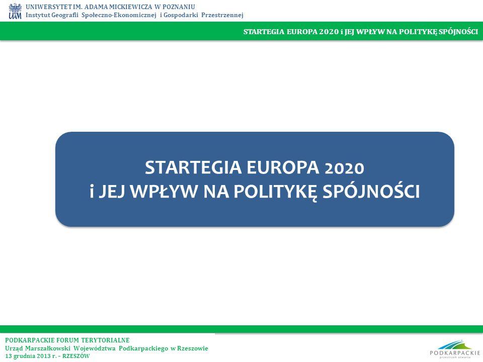 STARTEGIA EUROPA 2020 i JEJ WPŁYW NA POLITYKĘ SPÓJNOŚCI