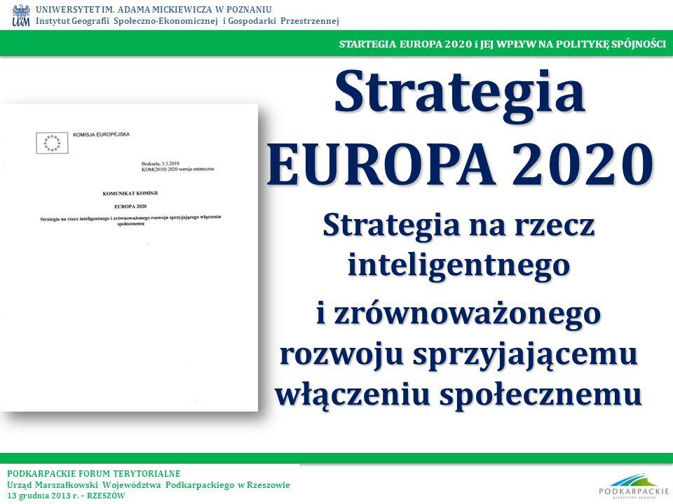 Strategia EUROPA 2020 Strategia na rzecz inteligentnego
