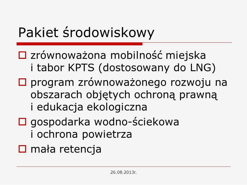 Pakiet środowiskowy zrównoważona mobilność miejska i tabor KPTS (dostosowany do LNG)