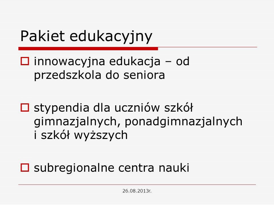 Pakiet edukacyjny innowacyjna edukacja – od przedszkola do seniora