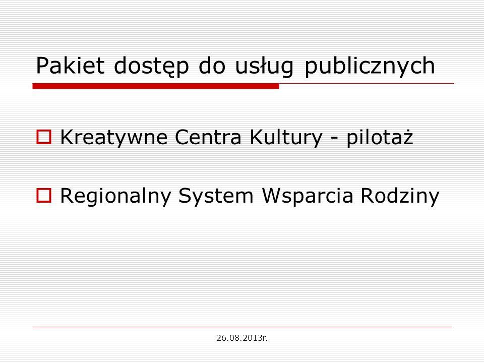 Pakiet dostęp do usług publicznych