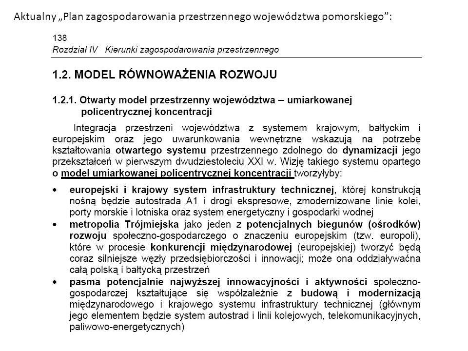 """Aktualny """"Plan zagospodarowania przestrzennego województwa pomorskiego :"""