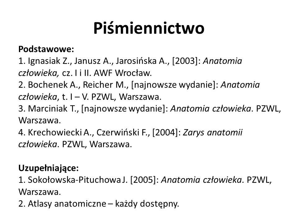 Piśmiennictwo Podstawowe: