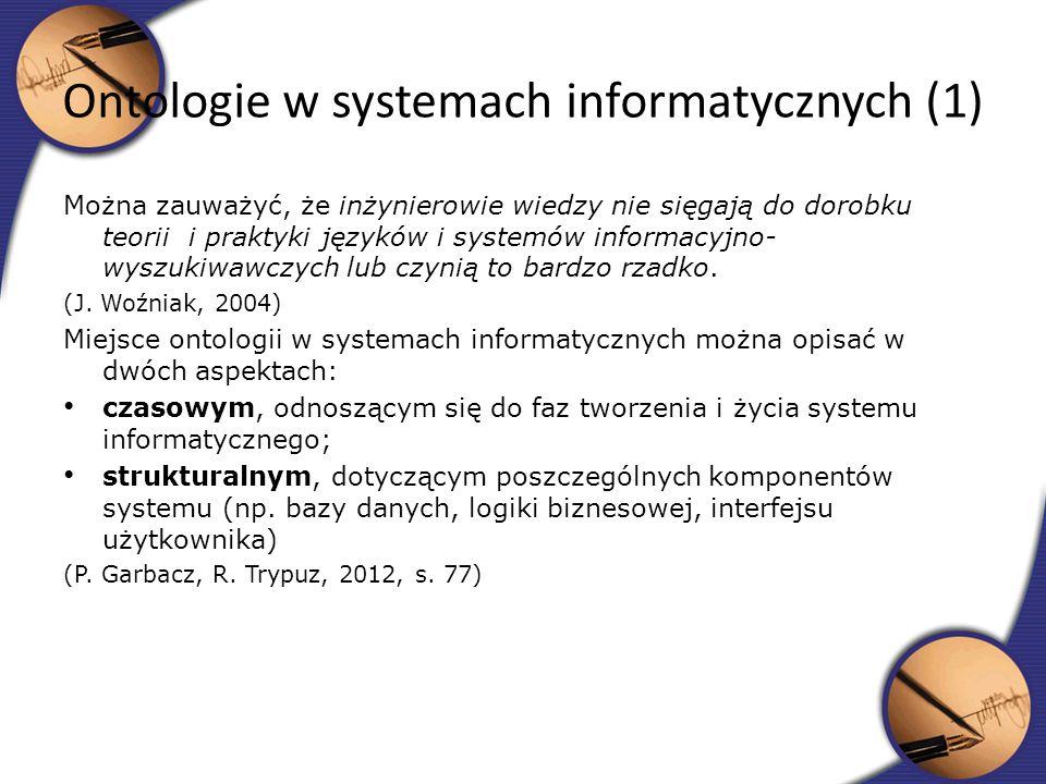 Ontologie w systemach informatycznych (1)