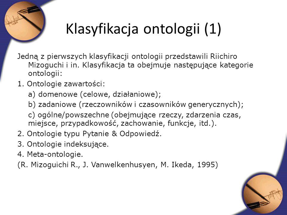 Klasyfikacja ontologii (1)