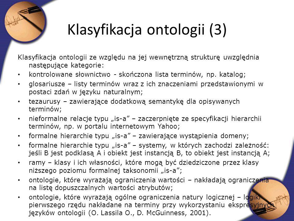 Klasyfikacja ontologii (3)
