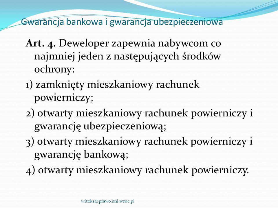 Gwarancja bankowa i gwarancja ubezpieczeniowa