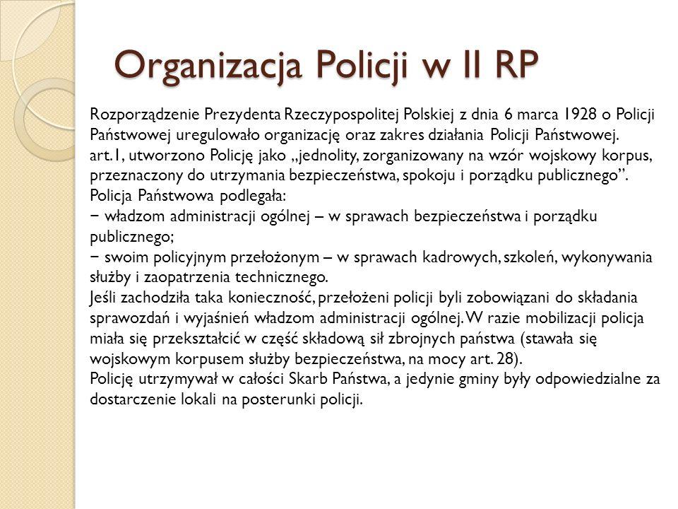 Organizacja Policji w II RP