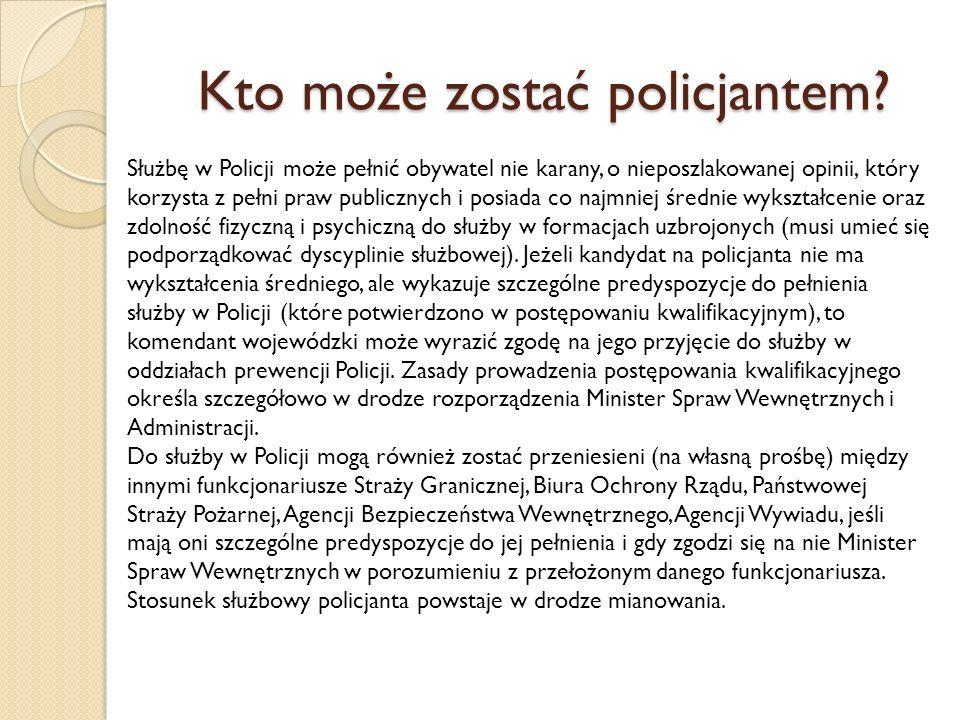 Kto może zostać policjantem