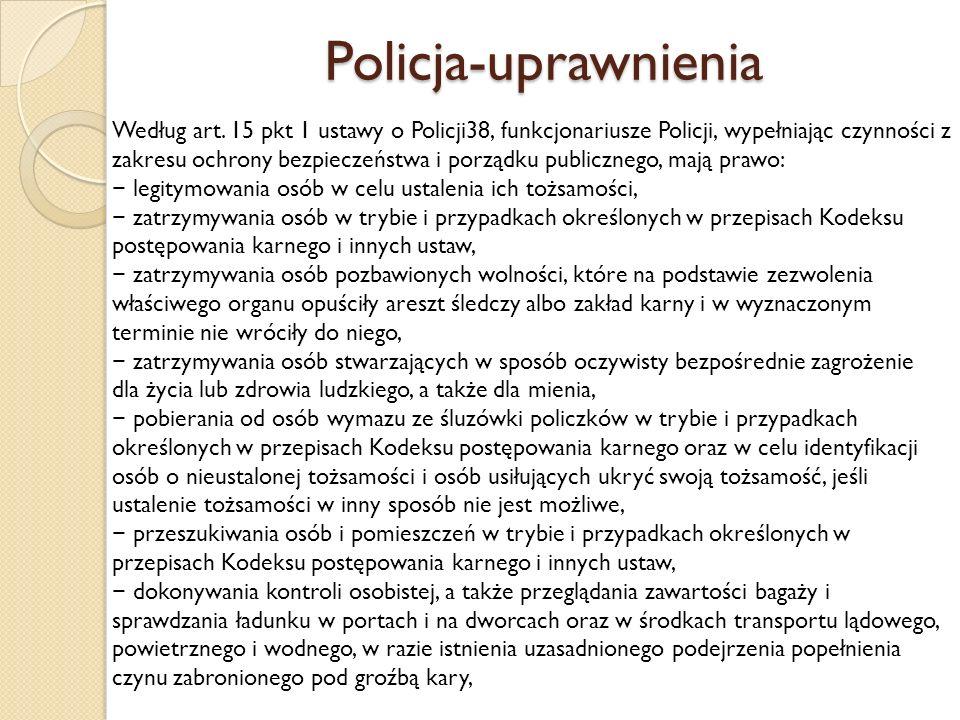 Policja-uprawnienia
