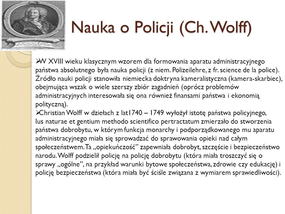 Nauka o Policji (Ch. Wolff)