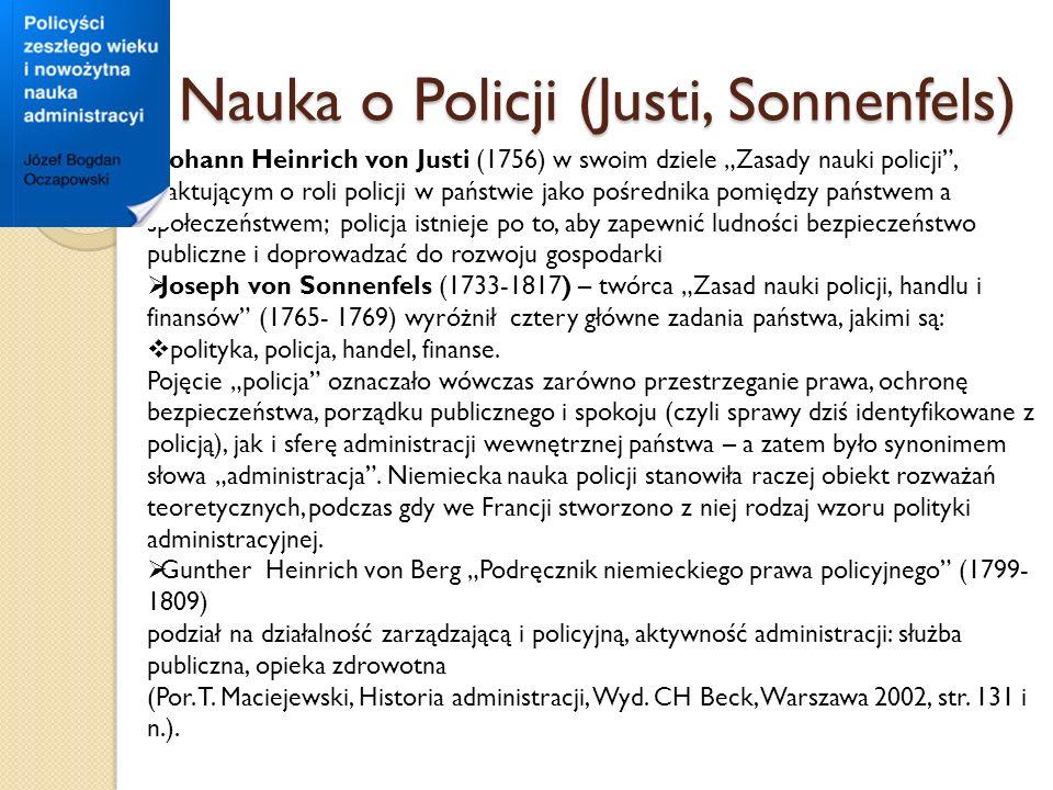 Nauka o Policji (Justi, Sonnenfels)