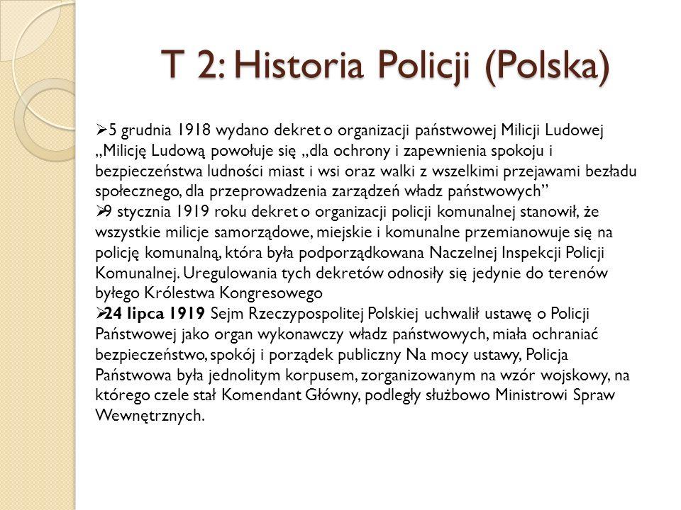 T 2: Historia Policji (Polska)