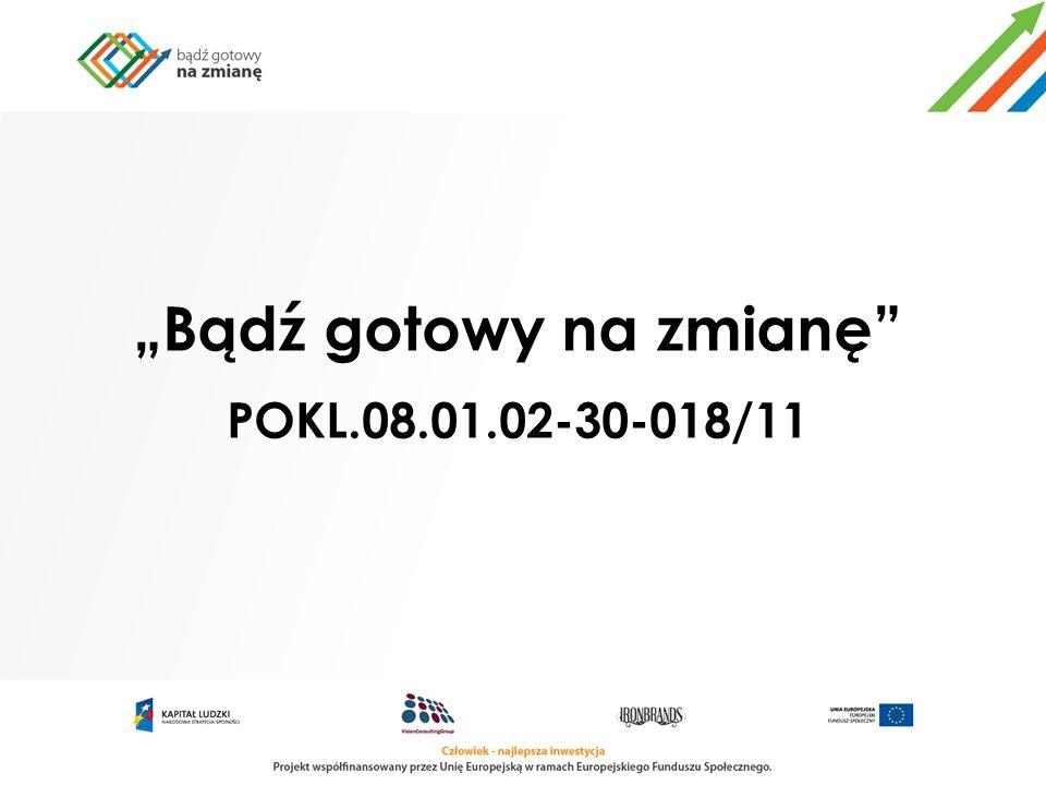 """""""Bądź gotowy na zmianę POKL.08.01.02-30-018/11"""
