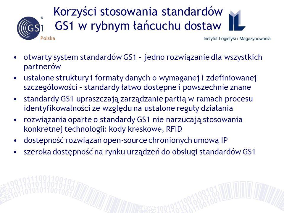 Korzyści stosowania standardów GS1 w rybnym łańcuchu dostaw