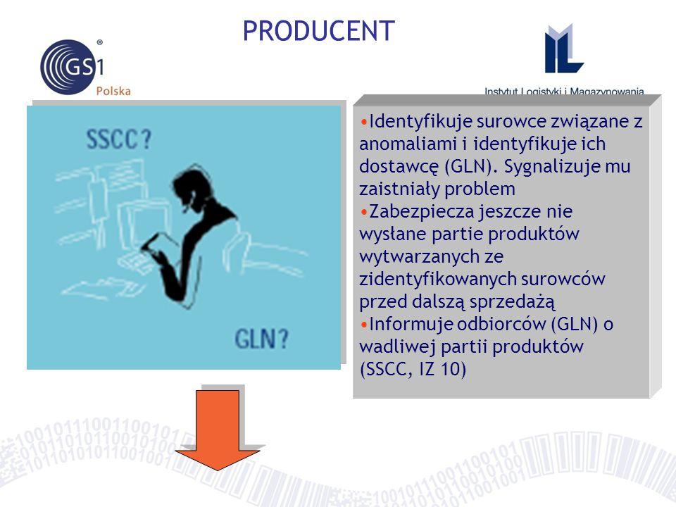 """Traceability - regulacje prawne, zarządzanie kryzysem, wykorzystanie standardów GS1 w T&T, proces wycofania produktu z łańcucha dostaw, wykorzystanie rozwiązania """"traceability w łańcuchu dostaw produktów spożywczych"""