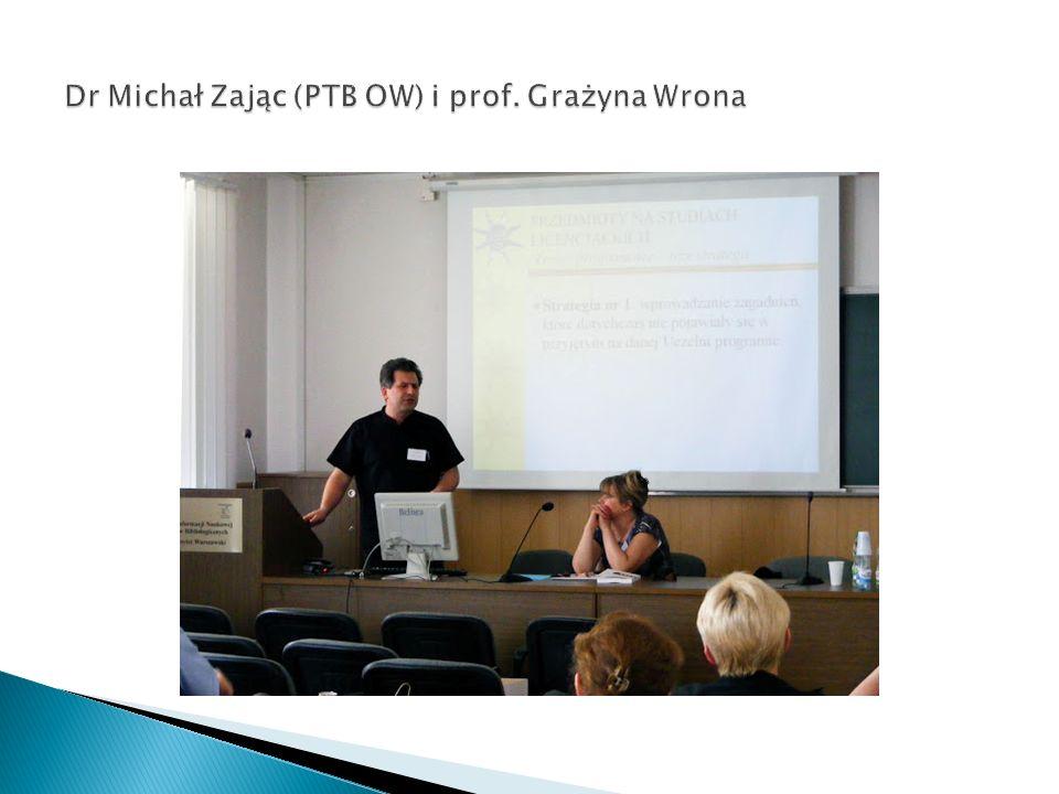Dr Michał Zając (PTB OW) i prof. Grażyna Wrona