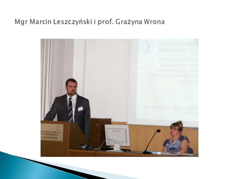 Mgr Marcin Leszczyński i prof. Grażyna Wrona