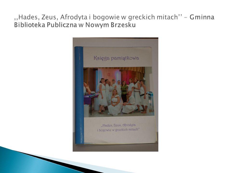 ,,Hades, Zeus, Afrodyta i bogowie w greckich mitach'' - Gminna Biblioteka Publiczna w Nowym Brzesku