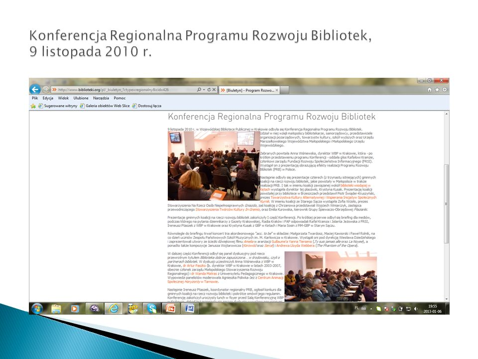 Konferencja Regionalna Programu Rozwoju Bibliotek, 9 listopada 2010 r.