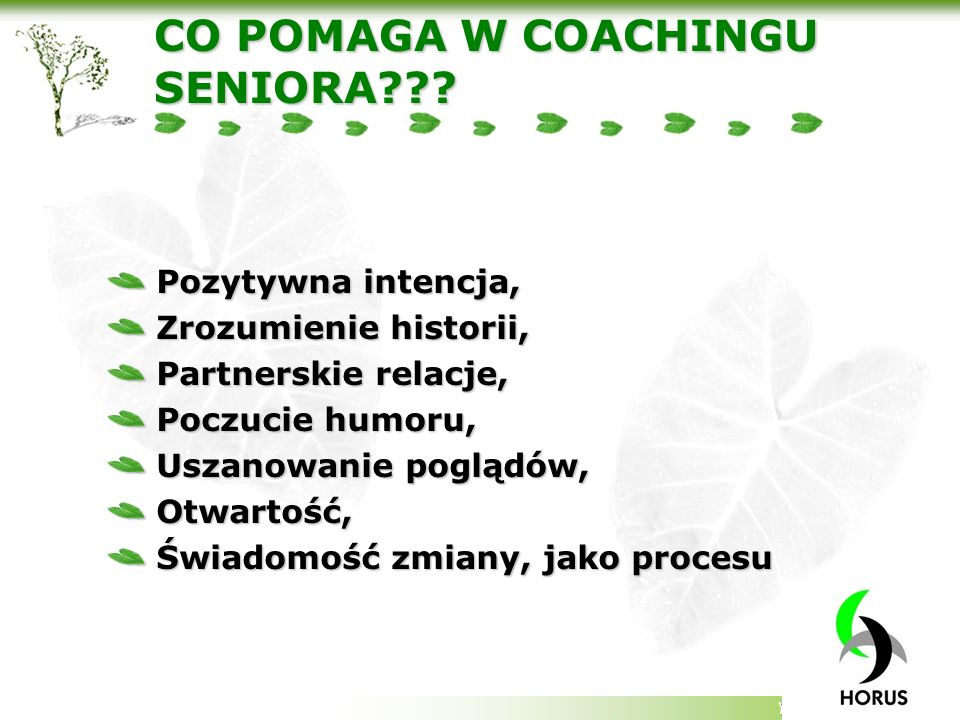 CO POMAGA W COACHINGU SENIORA