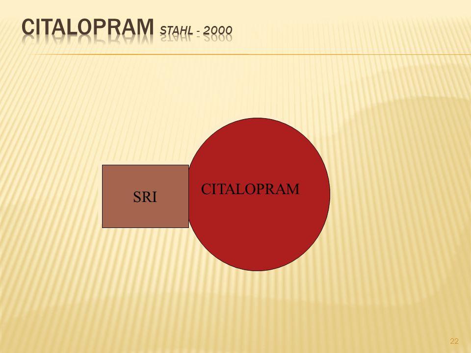 CITALOPRAM Stahl - 2000 SRI CITALOPRAM