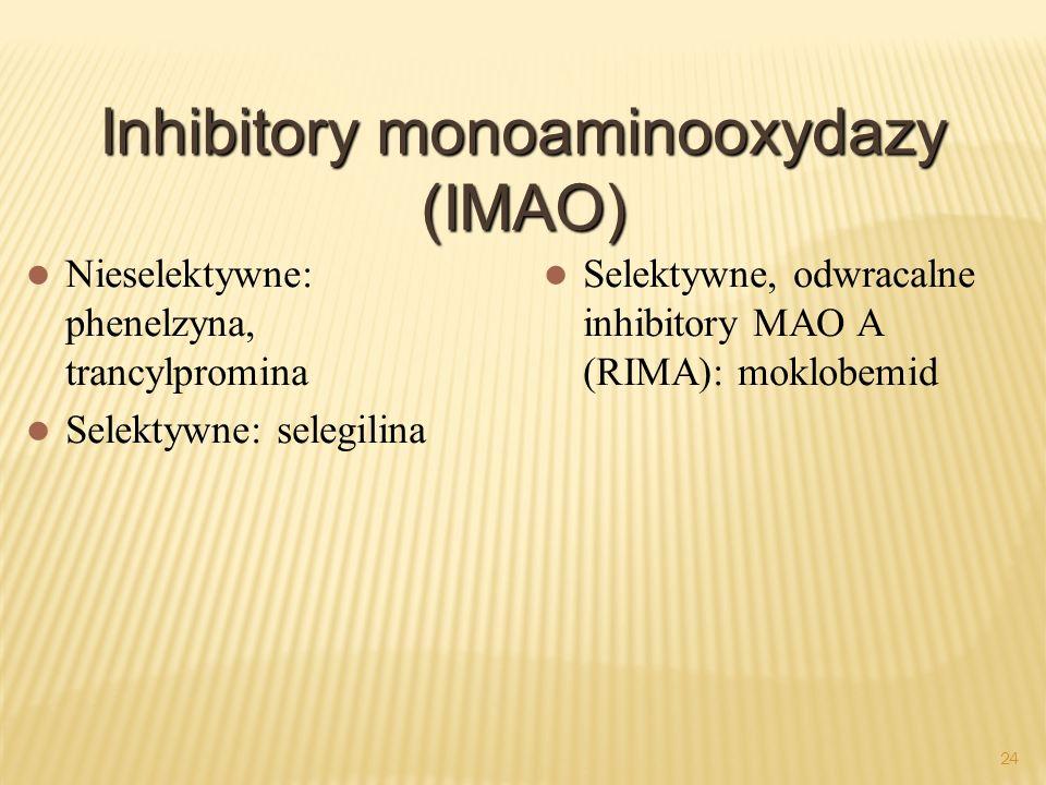 Inhibitory monoaminooxydazy (IMAO)
