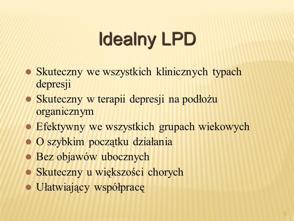Idealny LPD Skuteczny we wszystkich klinicznych typach depresji